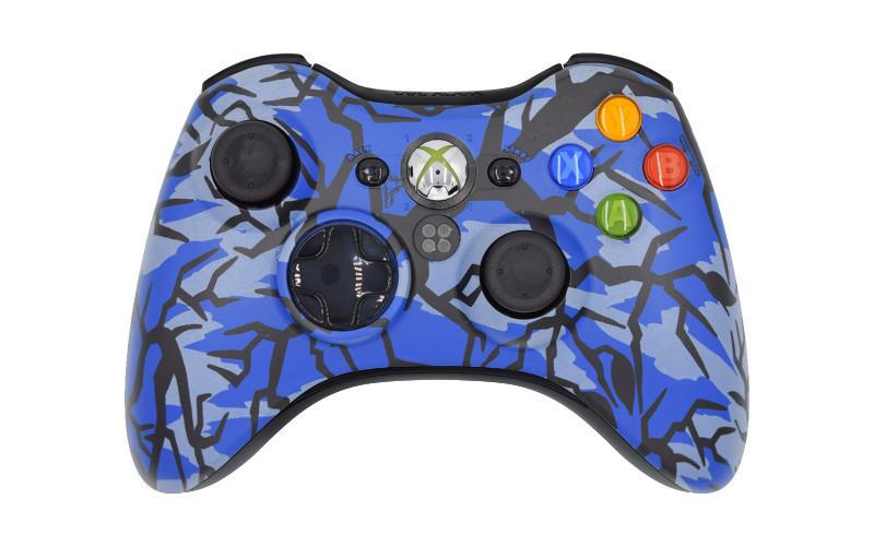 Xbox 360 Blue Predator Custom Modded Controller
