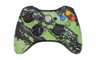 Xbox 360 Green Splatter Custom Modded Controller