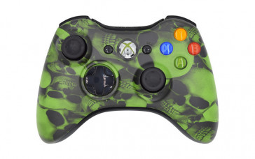 Xbox 360 Green Skulls Custom Modded Controller