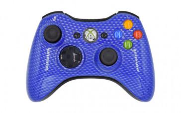 Xbox 360 Blue Carbon Fiber Custom Modded Controller