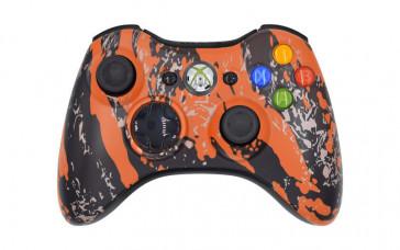 Xbox 360 Orange Splatter Custom Modded Controller