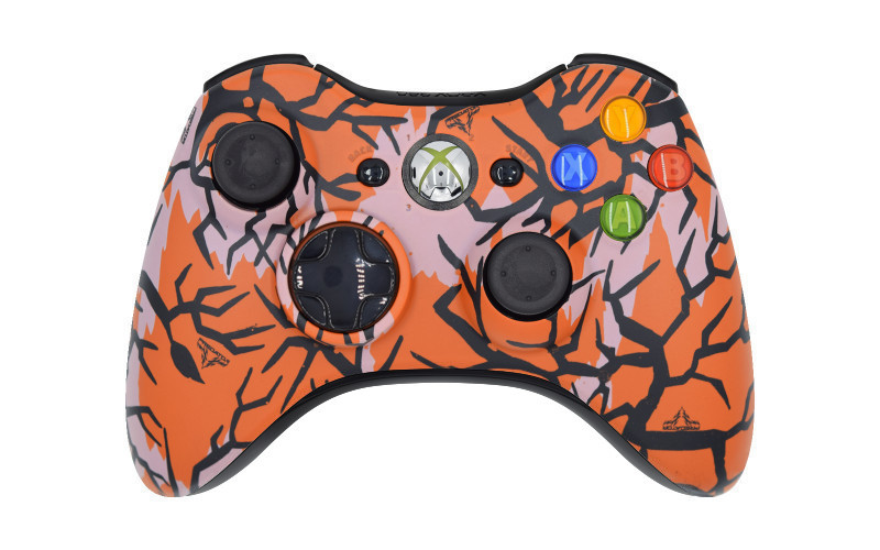 Xbox 360 Orange Predator Custom Modded Controller