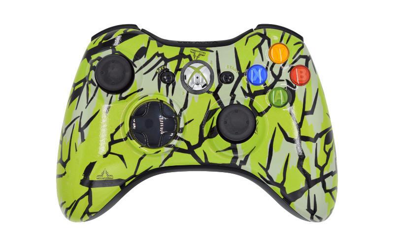 Xbox 360 Lime Predator Custom Modded Controller