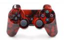PS3 Red Skulls Custom Modded Controller Small
