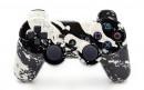 PS3 White Splatter Custom Modded Controller Small