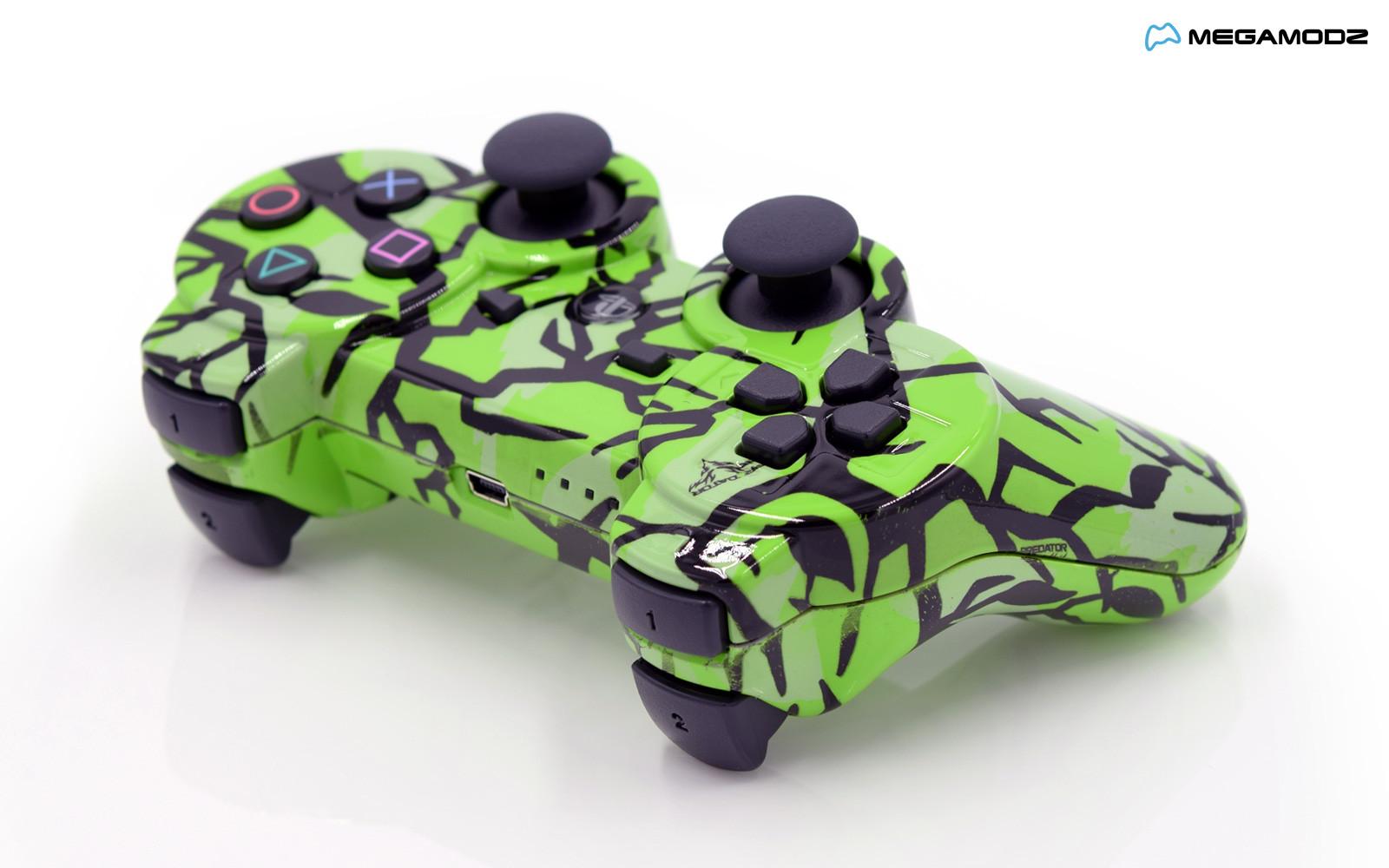 PS3 Lime Predator Custom Modded Controller