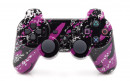 PS3 Purple Splatter Custom Modded Controller Small