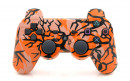 PS3 Orange Predator Custom Modded Controller Small