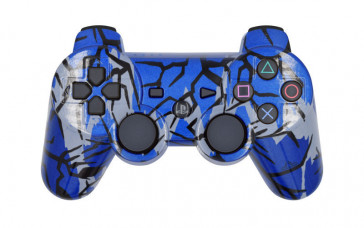 PS3 Blue Predator Custom Modded Controller