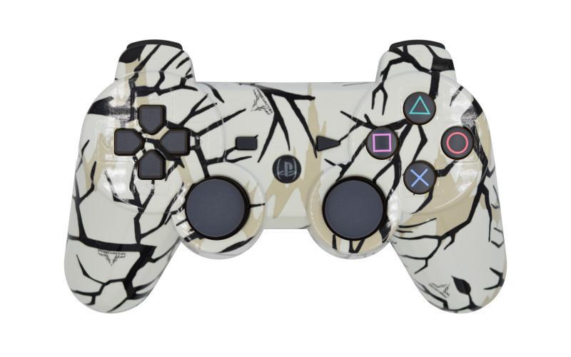PS3 White Predator Custom Modded Controller