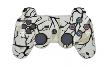 PS3 White Predator Custom Modded Controller