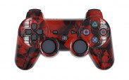 PS3 Red Skulls Custom Modded Controller