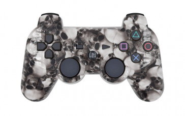 PS3 White Skulls Custom Modded Controller