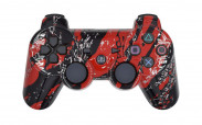 PS3 Red Splatter Custom Modded Controller