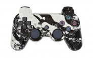 PS3 White Splatter Custom Modded Controller