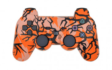 PS3 Orange Predator Custom Modded Controller
