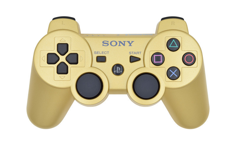 PS3 Matte Gold Custom Modded Controller