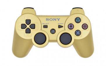 PS3 Matte Gold Custom Modded Controller