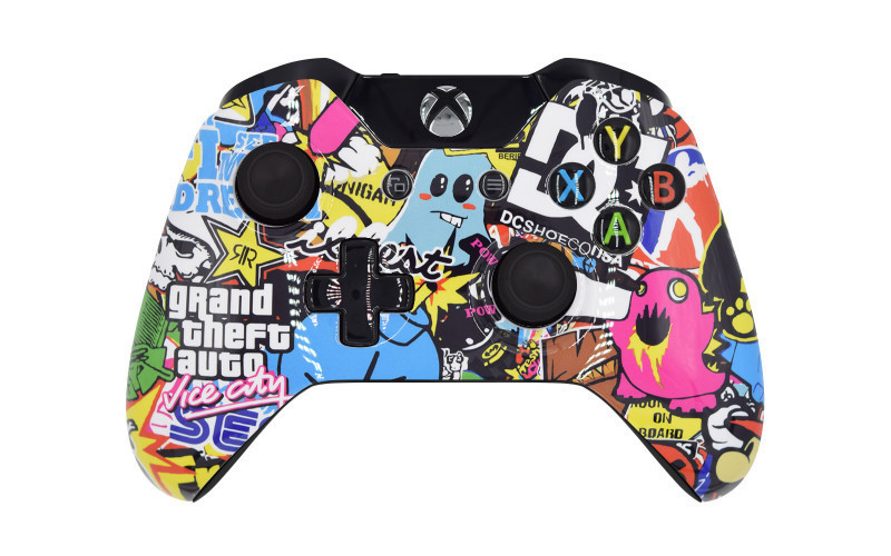 Xbox One GTA Sticker Bomb Custom Modded Controller