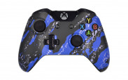 Xbox One Blue Splatter Custom Modded Controller