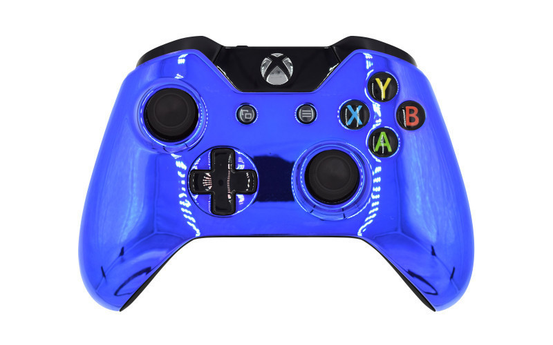 Xbox One Chrome Blue Custom Modded Controller