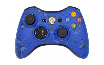 Xbox 360 Blue Drops Custom Modded Controller