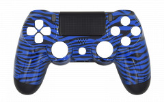 Hydro Dipped - Blue Tiger - Controller For PS4