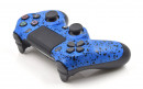 PS4 Pro Rubberized Blue Custom Modded Controller Small