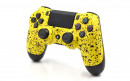 PS4 Pro Rubberized Yellow Custom Modded Controller Small
