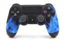 PS4 Blue Flames Custom Modded Controller Small