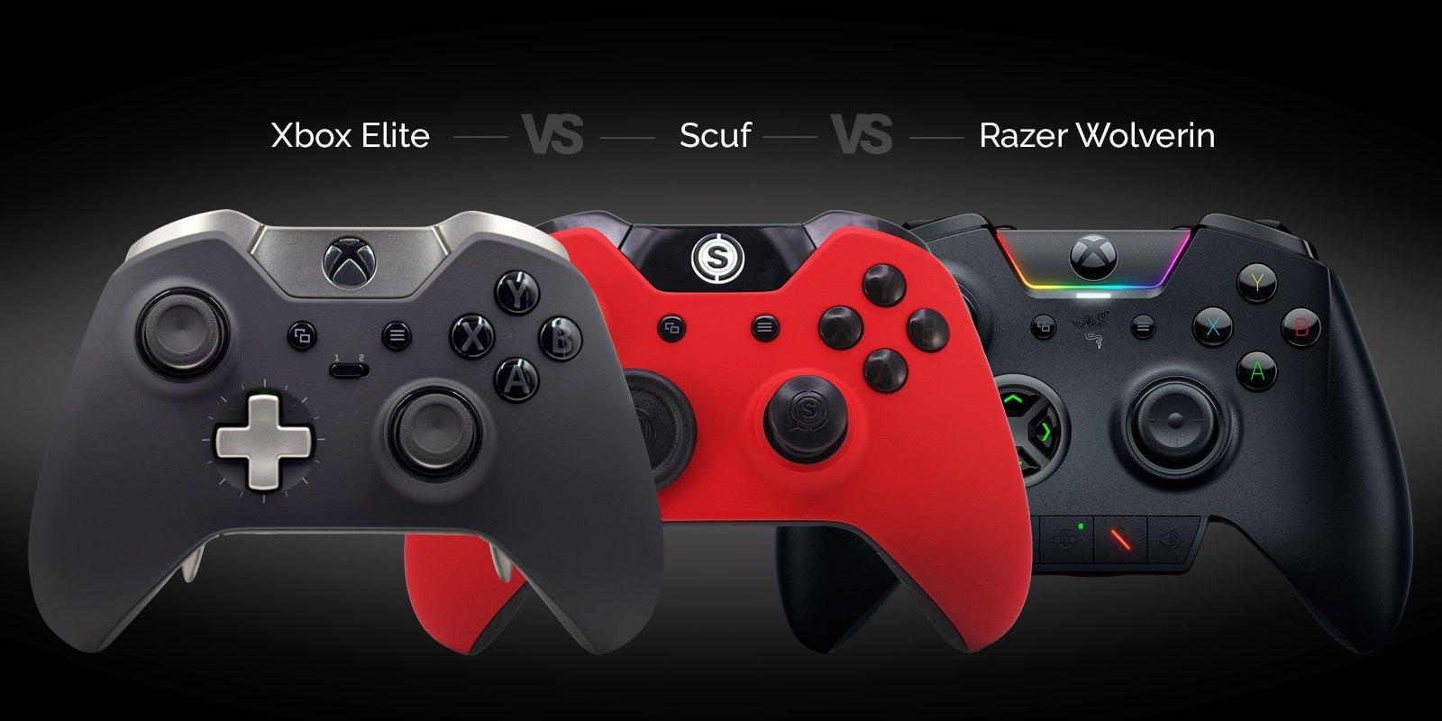 Xbox Elite Vs Razer Wolverine Vs Scuf
