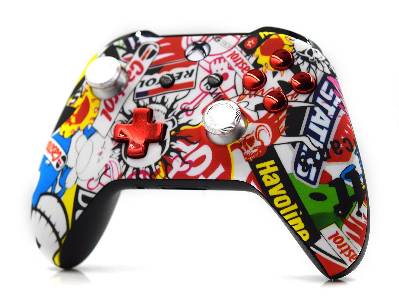 Custom Xbox One S Controller - Sticker Bomb