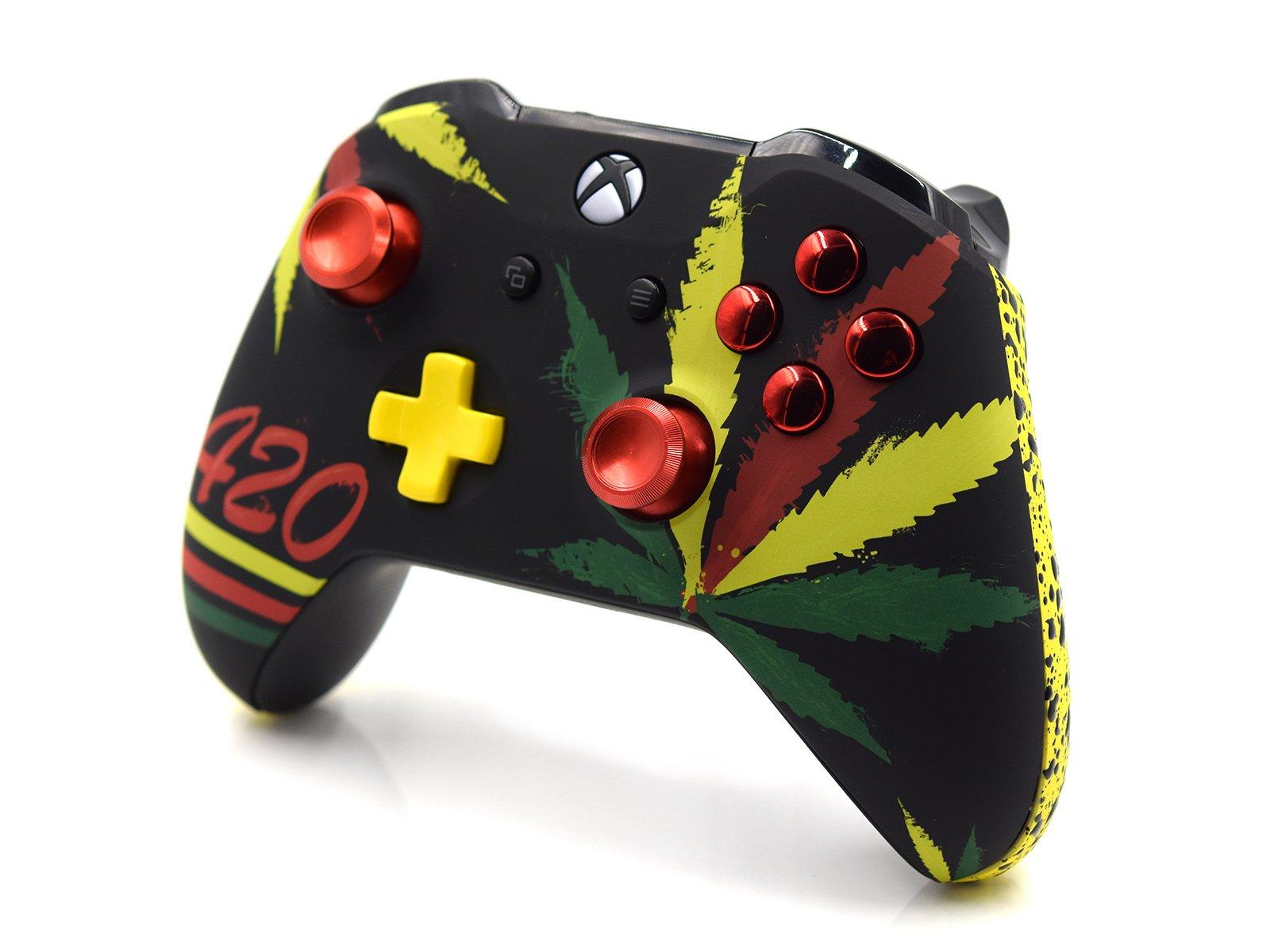 Custom Xbox One S Controller - Cannabis Leaves