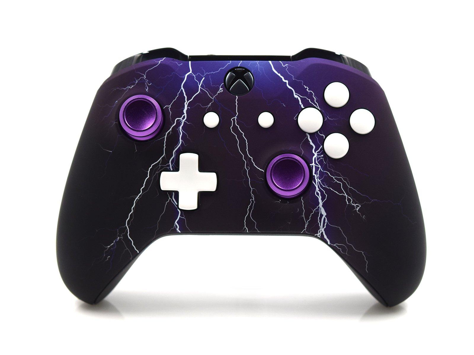Custom Xbox One S Controller - Violet Lightning