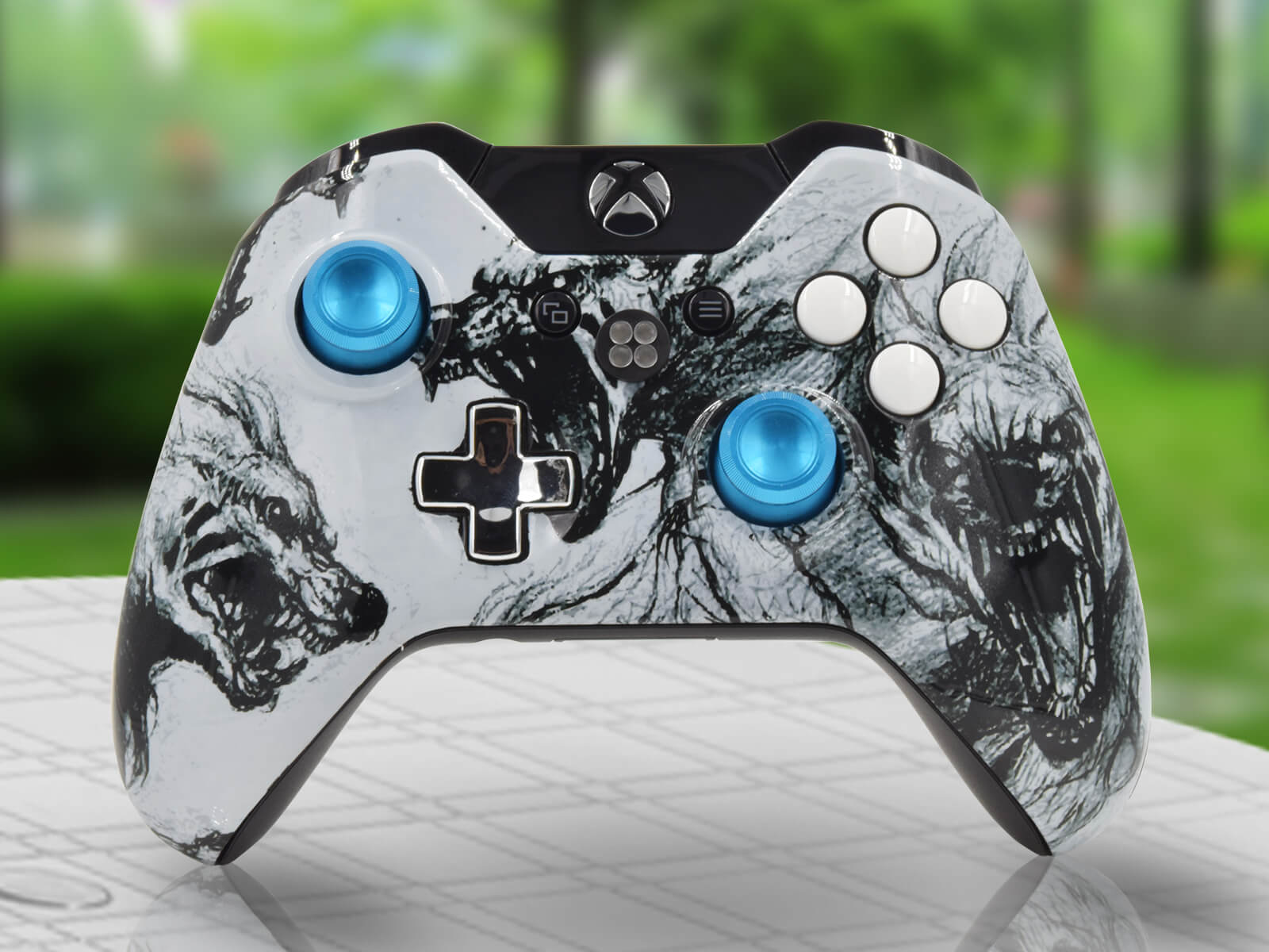 Modded Xbox One  Controller Zombie Wolves