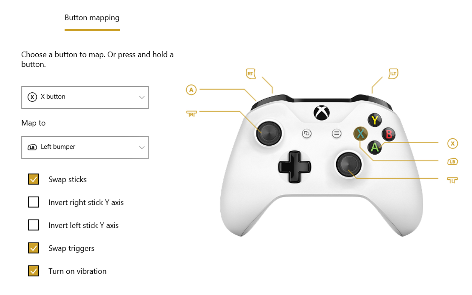 Xbox Accessories App For Xbox One S Controller