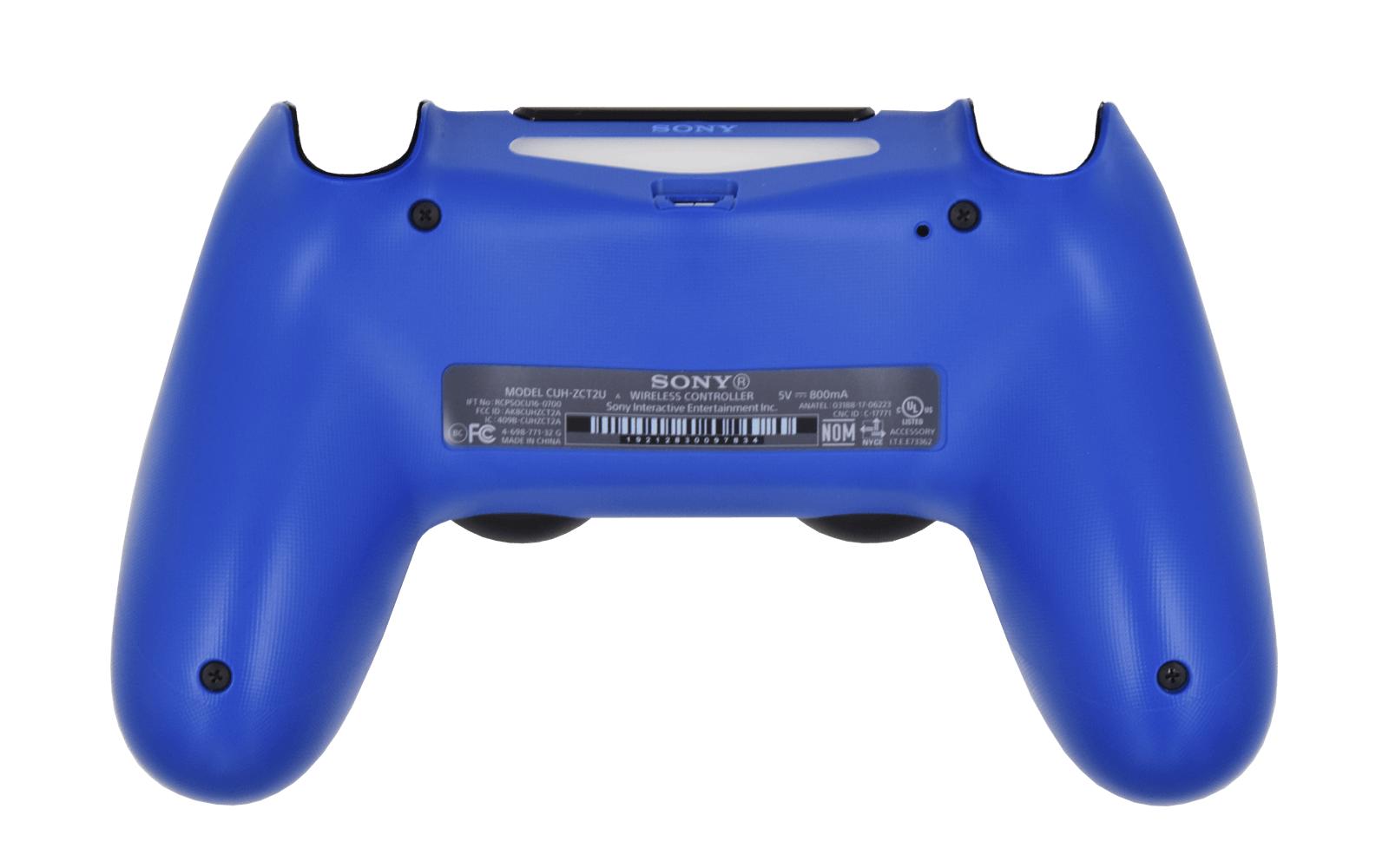 PS4 Controller Wave Blue Back shell