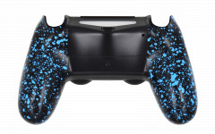 PS4 Controller Rubberized Blue Back shell