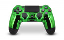 PS4 Pro Chrome Green Custom Modded Controller Small